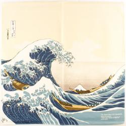 furoshiki en coton japonais NAMIFUJI- Hokusai La Grande Vague de Kanagawa