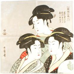 japanese furoshiki, KANSEISAN BIJIN, Ukiyoe