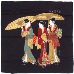 black japanese furoshiki - Yugaeri