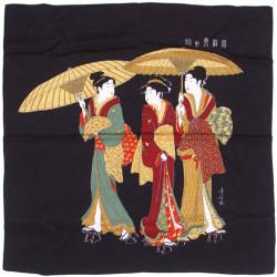 furoshiki japonais, YUGAERI, noir
