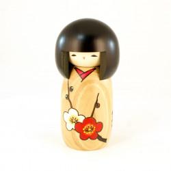 Japanese kokeshi doll flower stories, HANA MONOGATARI UME