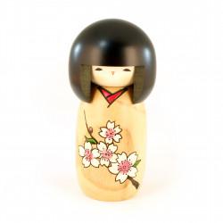 bambola di legno giapponese - kokeshi - HANAMONOGATARI- SAKURA