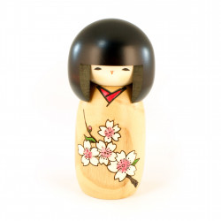 Japanese doll wooden KOKESHI. handmade in Japan - HANAMONOGATARI- SAKURA