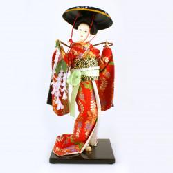 Bambola giapponese - Oyama , FUJI MUSUME, danza kabuki