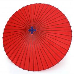 véritable grande ombrelle japonaise rouge