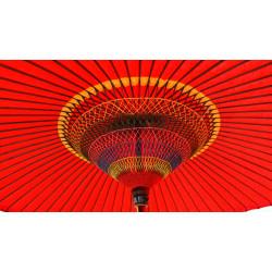 real big japanese parasol, WAGASA PRESTIGE, red