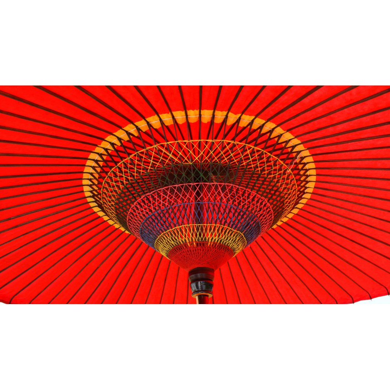 big red japanese umbrella