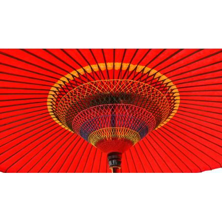 véritable grande ombrelle - parasol japonais rouge Ø150~210 x H250 cm WAGASA PRESTIGE