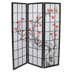 black japanese wooden screens design Plum 3P
