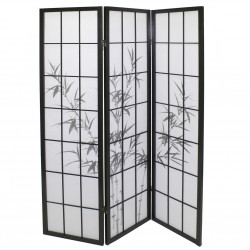 black japanese wooden screens design BAMBOO 3P