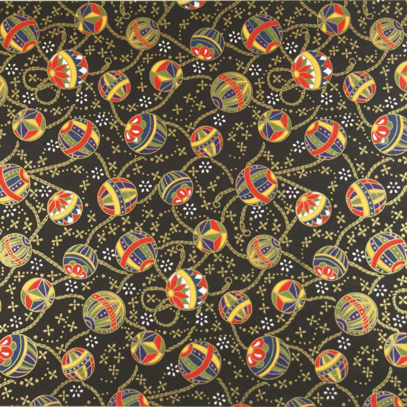 Japanese Washi paper Yuzen designed By Taniguchi Kyoto Japan 8001