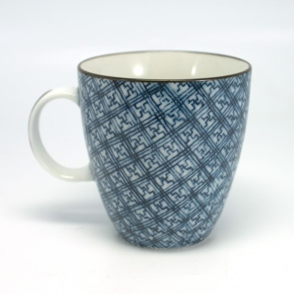 Japanese teacup with handle ceramic square