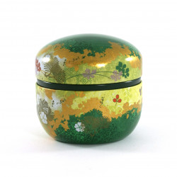 Japanese tea box Suzuko Hanazoroe green