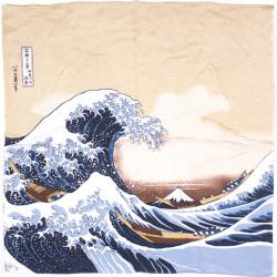 furoshiki japonais, NAMIFUJI, Hokusai La Grande Vague de Kanagawa