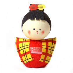 bambola giapponese okiagari protettore, KOMACHI, ragazza