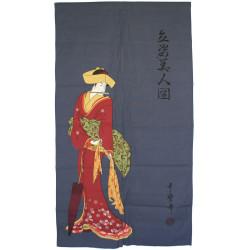 Tenda giapponese noren donna, TASHISUGATA, geisha