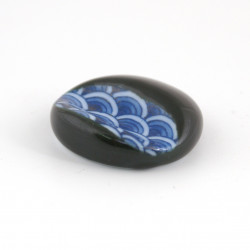 Japanese ceramic chopsticks holder wave