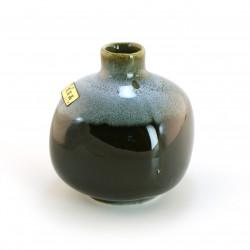 vase soliflore japonais noir et bleu TENMOKU MINI HANABIN