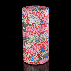 Japanese tea box made of washi paper, NUAGES, red
