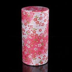 Japanese tea caddy in washi paper, YUZEN KAZE, 200 g