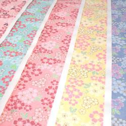 large Japanese paper sheet, YUZEN WASHI, big sakura