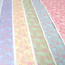 large Japanese paper sheet, YUZEN WASHI, sakura