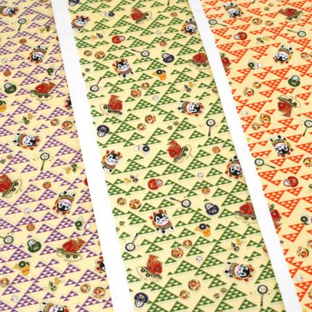 feuille papier japonais, YUZEN WASHI, 8027