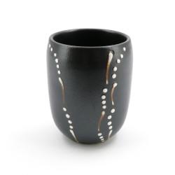 Japanese gray ceramic teacup 4003721D