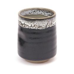Japanese black teacup ceramic 39716