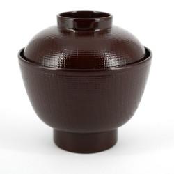 bol rouge à soupe Miso japonais en résine 16M84708763
