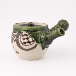 japanese teapot kyusu green Oribe