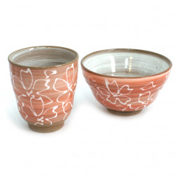 duo with Japanese cup and bowl ceramic