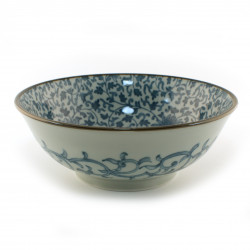 Japanese blue bowl KARAKUSA