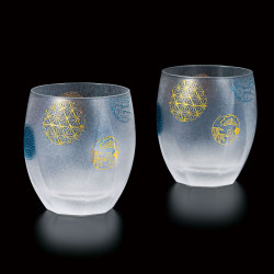 duo of japanese whisky glasses made in Japan - Temari