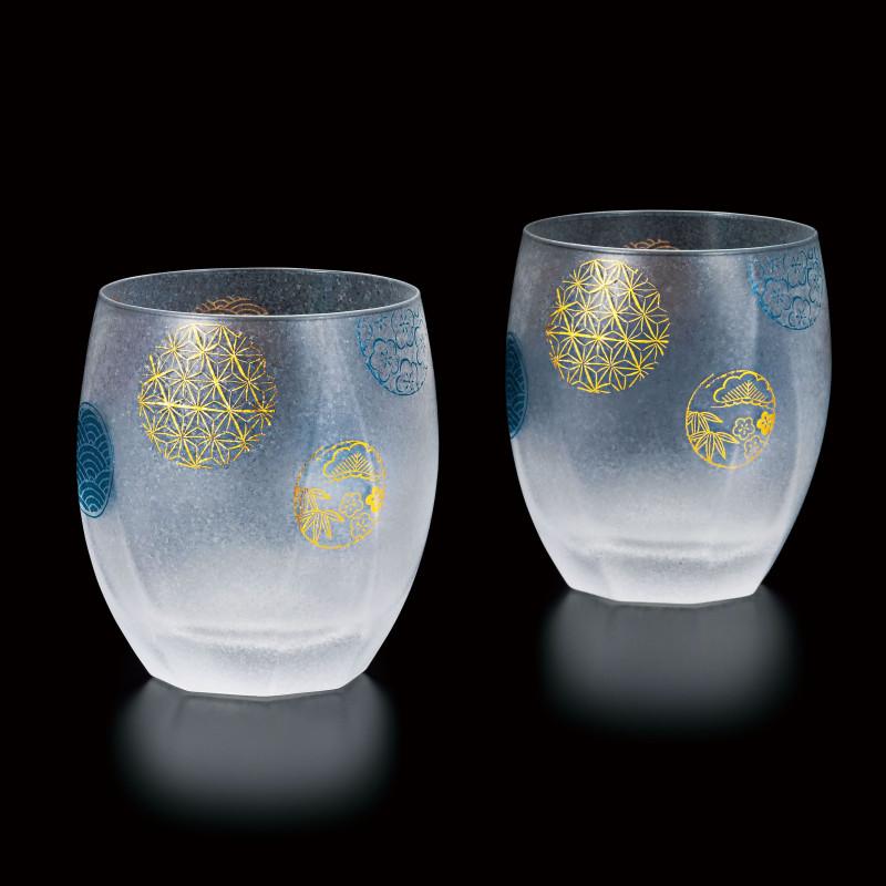 duo of japanese glasses made in Japan - Temari