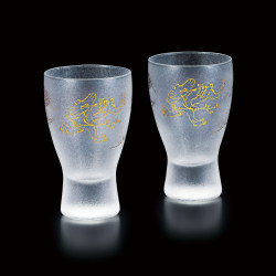 duo di bicchieri giapponesi Chojo-jinbutsu-giga