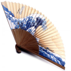 japanese fan - paper and bamboo - namifuji hokusai