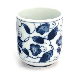 tasse japonaise à thé en céramique hana-karakusa