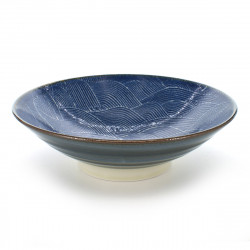 Japanese blue nami seigaiha bowl
