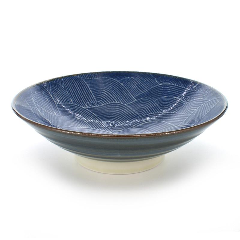 Japanese blue nami seigaiha bowl
