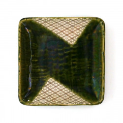 japanische quadratische Platte, ORIBE, grün