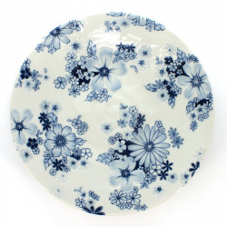 medium-sized round plate flower patterns white FLOWER