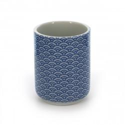 taza de té japonés, SEIGAIHA, azul