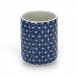 japanische Teetasse, ASANOHA, blau