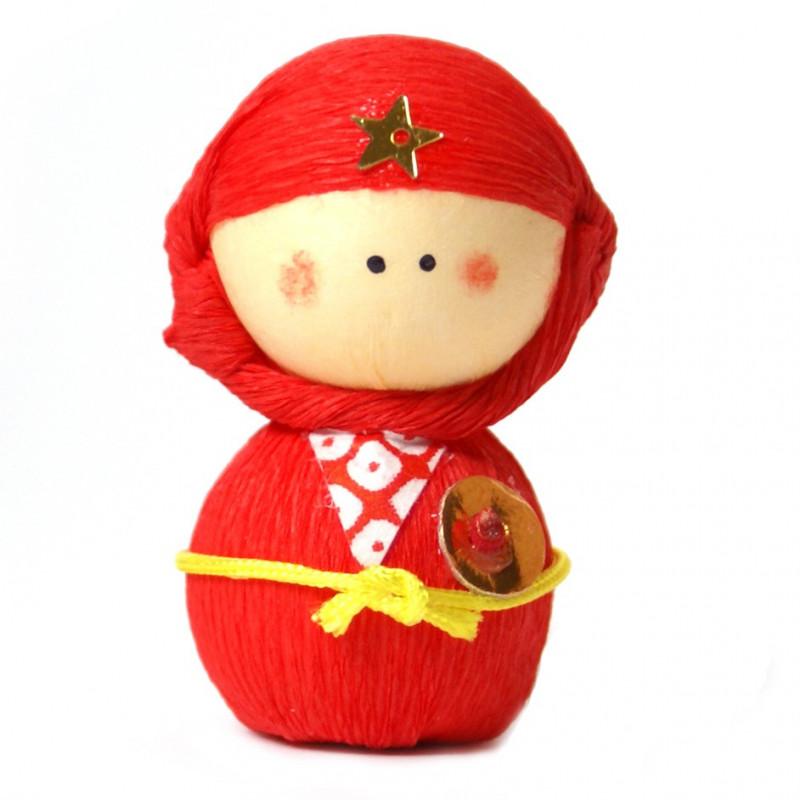 japanese okiagari doll, NINJYA, ninja red