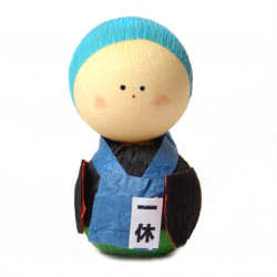 poupée japonaise okiagari, OBAASAN, ouvrier