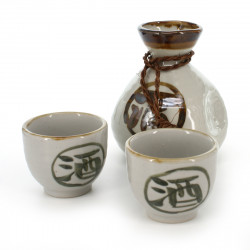 bouteille traditionnelle japonaise pour alcool saké avec kanji saké