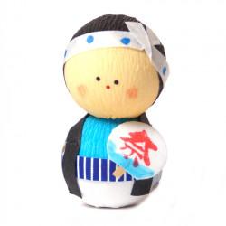 bambola giapponese okiagari protettore, OMATSURI, uomo