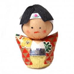 bambola giapponese okiagari protettore, WAKAMONO, giovanotto