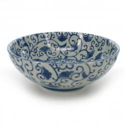 bowl for râmen or tsukemen blue
